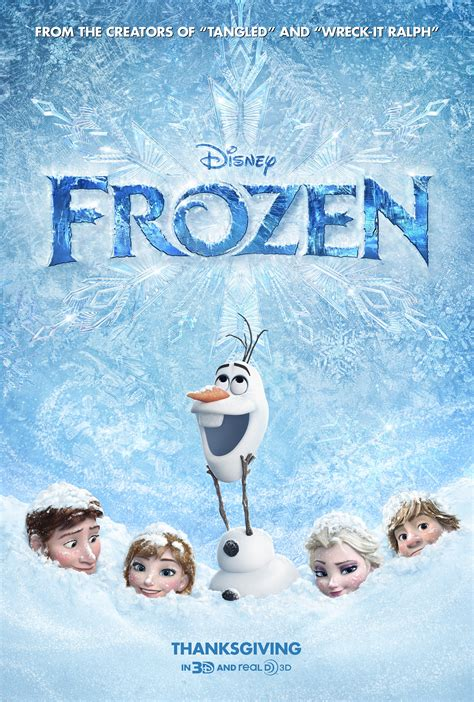 See the new FROZEN movie poster from Disney starring