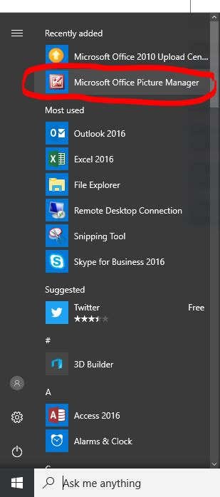 microsoft office picture manager 2016