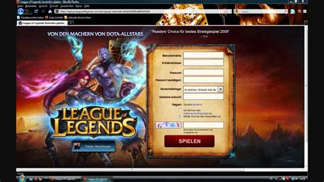 [HowTo]League of Legends download and register - YouTube