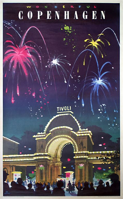 Original vintage poster: Wonderful Copenhagen - Tivoli for