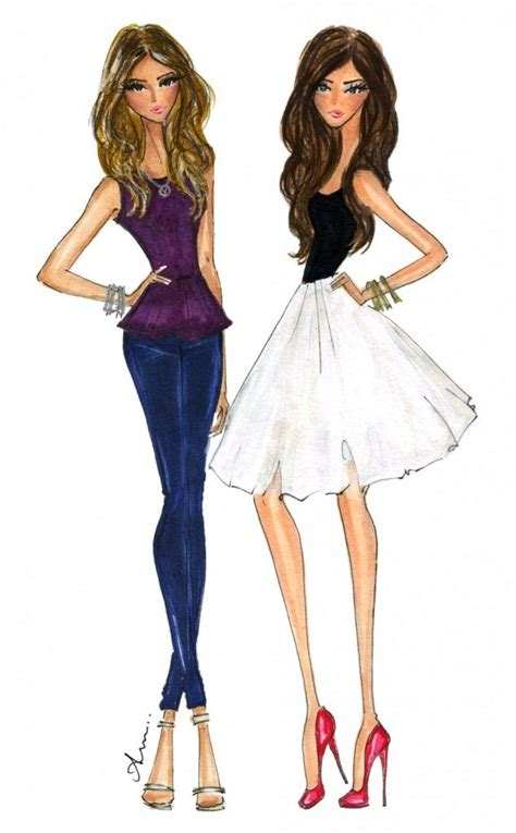 Illustrations by Anum - reminds me of what my 2 flacas
