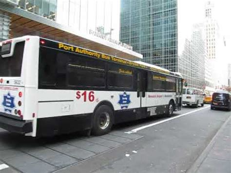 Newark Airport Express bus at 6th Avenue and West 42nd