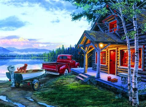 Darrell Bush: Cabin Fever - 1000 Piece Jigsaw Puzzle by