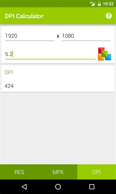 Megapixel Calculator - Android Apps on Google Play