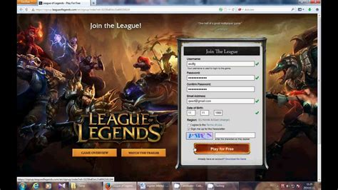 How to register on League of Legends (Lol) 2014 - YouTube