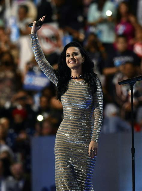 Katy Perry performs at the Democratic National Convention