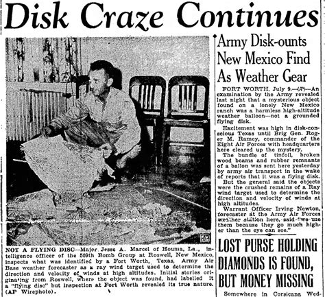 New Mexico Roswell 1947 Newspaper   Roswell Incident 1947
