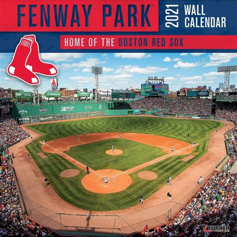 Boston Red Sox Fenway Park Stadium Wall Calendar