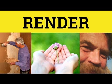 Render Meaning - YouTube