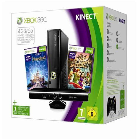 XBOX 360 4GB Kinect Console holiday Bundle 2012 2 GAMES