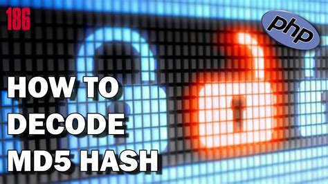PHP How to decode MD5 Hash - YouTube